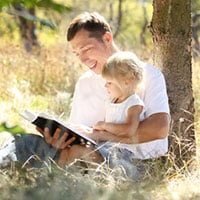 Man with Child Christian Literary Agents for Children's Books